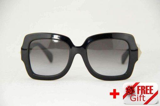 Valentino V714S Black Women's Sunglasses PC Gradual Gray Lens