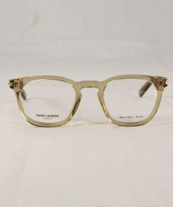 Saint Laurent SL29 Transparent Honey Crystal Eyeglasses made in Italy
