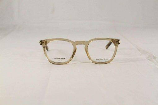 Saint Laurent SL29 Transparent Honey Crystal Eyeglasses made in Italy