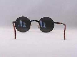Vintage IXO 375 BLACK METAL SUNGLASSES GRAY LENS MADE IN FRANCE