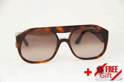 Valentino V731S Havana Women's Sunglasses PC Gradual Brown Lens