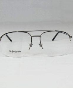Saint Laurent 2342 Gray Metal Eyeglasses made in Italy