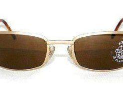Vintage VUARNET 062  GOLD Matte  Sunglasses PX2000 Brown MINERAL lens