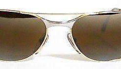 Vintage VUARNET 042 Gold  & Silver  Sunglasses SKILYNX Mineral BROWN lens