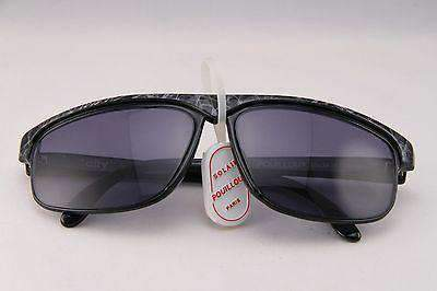 Vintage IXO 1349 BLACK SUNGLASSES GRAY LENS MADE IN FRANCE