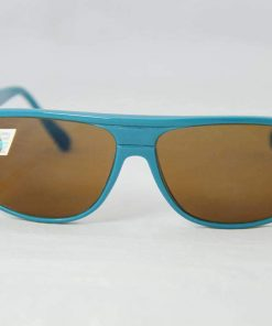 Alain Prost 458 Green / Blue Sunglasses PX2000 Mineral Brown Lens, Blue Internal / External Anti-Reflective By Vuarnet Made in France