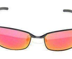 VUARNET 810E Men Women Black Matte Sunglasses PC Gray Red Floash LENS