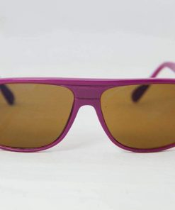 Alain Prost 458 Purple Sunglasses PX2000 Mineral Brown Lens, Blue Internal / External Anti-Reflective By Vuarnet Made in France
