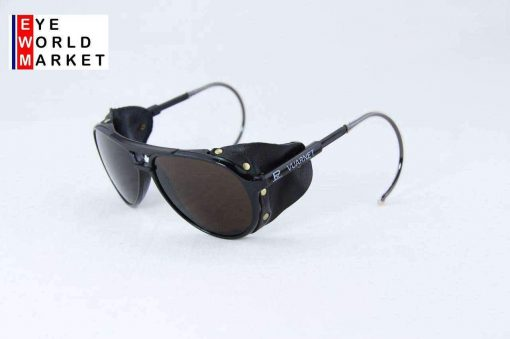 VUARNET Sunglasses 378 Small Black Cable Hook PX5000 MINERAL Brown Lens