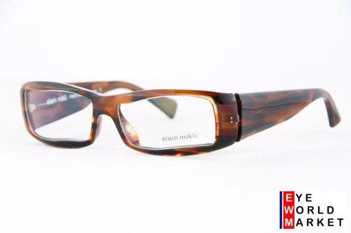 ALAIN MIKLI Eyeglasses A0751 Dark Brown Plastic Optical Frames