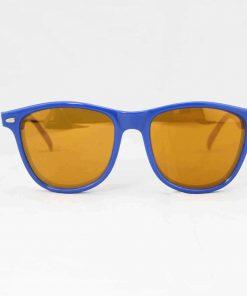 Alain Prost 031 Blue Sunglasses PC Brown Flash Lenses External Anti-Reflex By Vuarnet Made in France