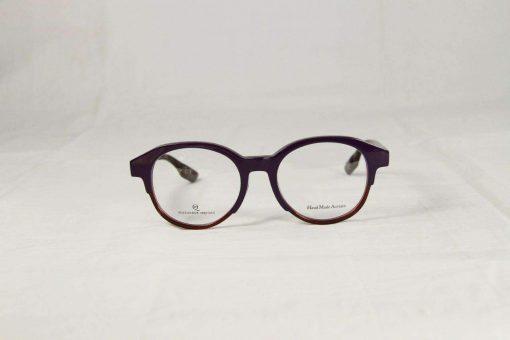 Alexander McQueen MCQ 0054/F GGH Purple Burgundy Round Eyeglasses