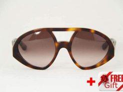 Valentino V708S Havana Women's Sunglasses PC Gradual Brown Lens