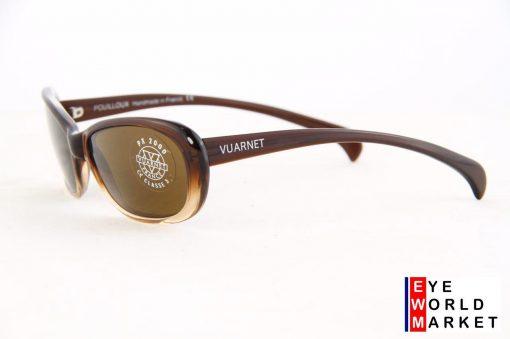 VUARNET Sunglasses 612 Dark Brown PX2000 Brown Lens