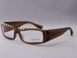 ALAIN MIKLI Eyeglasses AL0753 Brown and White Plastic Optical Frames
