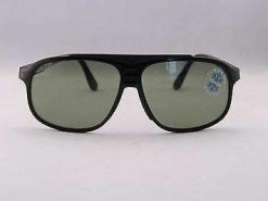 Vintage  IXO 466 V BLACK SUNGLASSES GREEN LENS MEADE IN FRANCE