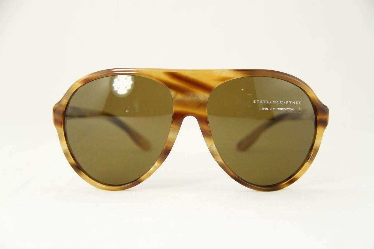4da6648a6076 Stella McCartney SM4021 Sunglasses Light Brown PC Brown Lens ...