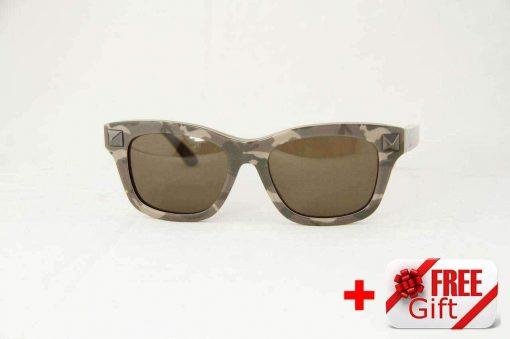 Valentino V656SC Khaki Camo Women's Sunglasses PC Gray Lens
